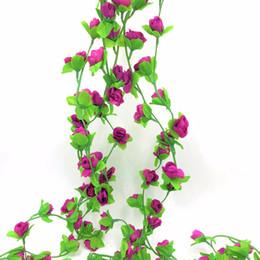 Ivy plastIc online shopping - Wedding Wedding Decoration Diy m Artificial Rose Garland Silk Vine Flower Plant Garlands Ivy Home Garden Floral Decoration
