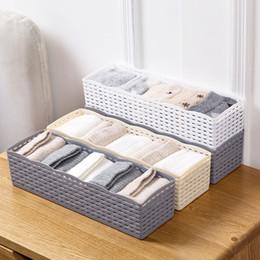 $enCountryForm.capitalKeyWord NZ - Urijk 5 Grids Wardrobe Storage Box Basket Organizer Women Men Socks Bra Underwear Storage Box Plastic Container Organizer