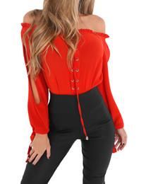 2fc1653168e138 Long sLeeve shouLder cut out tops online shopping - 2019 Sexy Women Off  Shoulder Blouse Shirt