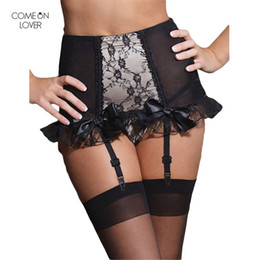 64802463cc6 Comeonlover Hot Selling Suspender Belt Garter Lace High Waist Garter Belt  Wedding-Garter PT5079 Plus Size Garter Belt for Women