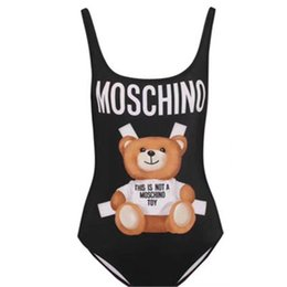 cute sexy bathing suits UK - Fashion Brand Cute Bear Bikini Swimwear for Women Sexy Letter Printed Lady Bikini Swimsuit Backless Female Bathing Suit