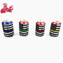 Wholesale NEW Beer Cup Sleeve Neoprene Material Cups Cover Beer Can Cooler Sleeve Cover Women Men Christmas gift Random Color Send H733Q