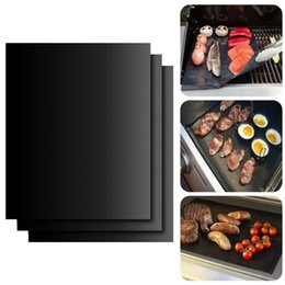 Microwave Mats NZ - BBQ Grill Mat Durable Non-Stick Barbecue Mat 40*33cm Cooking Sheets Microwave Oven Outdoor BBQ Cooking Tool 1000pcs OOA1935