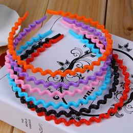 Headband Kits Australia - Candy Color Solid Wave Headband Women Girls Plastic Hair Band Headwear Wedding Festive Birthday Party Favors