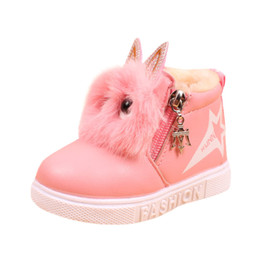 Chinese  2018 Cute Winter Baby Boots Soft Velvet Sneakers Children's Autumn Toddler Ankle Felt Boots Kids Warm Snow Shoes For Boys Girls manufacturers