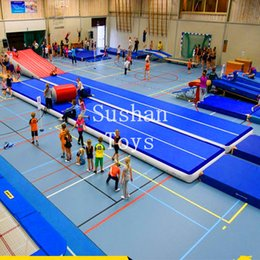 cheers inflatable NZ - Free Shipping 7x2x0.2m Air Tumbling Track Gymnastics Cheer leading Inflatable Mat air track