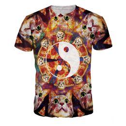 756507332201 Funny Cute Cat T shirt Men Pizza 3D Lovely Cats T-Shirts Plus Size Harajuku  Galaxy Streetwear Elegant Fashion Party Clothing