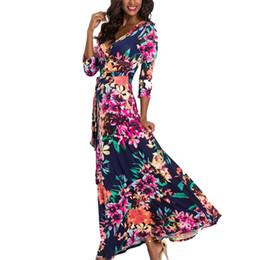 75460eb2dde Black chiffon tunic dress online shopping - 2019 Summer Autumn Women Long  Dress Floral Print Sexy