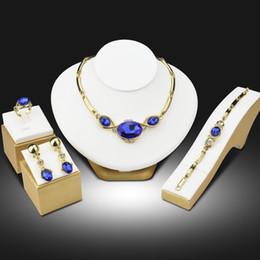 $enCountryForm.capitalKeyWord Australia - Beads Collares Jewelry Sets for Women Wedding Bridal Pendant Statement CZ Clear Crystal Jewelry Sieraden Sets