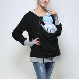 $enCountryForm.capitalKeyWord NZ - Baby Carrying Hoodies Parenting Child Autumn Winter Sweatshirts Baby Carrier Kangaroo Coat Jacket Mother Baby Wearing Hooded
