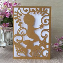45pcs laser cut birthday party invitations card 1th boy celebration baby shower decorations greeting card