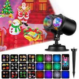 Wholesale Christmas Projector Lights in LED Water Wave Ripples Led Projector Light Outdoor LED Lights with Remote Control Christmas Toys OOA5940
