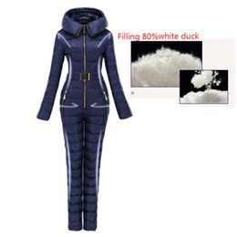 woman s ski suit Australia - Outerwear Lightly Ski Suit Women Integrated Ski Suit Female Outdoor Suits Super Warm Winter Clothing Coverall