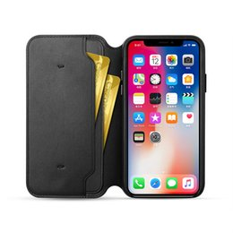 Flip package online shopping - Luxury Original Leather Folio Wallet Case Official Flip Smart With Card Slot Auto Sleep Function Cover for iPhone X with Retail Package