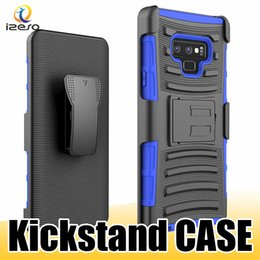 Cases for zte phones online shopping - Luxury Shockproof Kickstand Phone Case with Belt Clip for LG Stylo Galaxy C7 Pro Alcatel ZTE Blade Zmax E ZenFone ZE500 BLU
