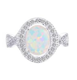 925 sterling silber opal fingerring weiß 3A zirkonia frauen ring versandkostenfrei großhandelspreis schmuck im Angebot