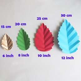 paper flower decoration diy Australia - DIY Artificial Flowers Leave Fleurs Artificielles Backdrop Matching Leaves Giant Paper Leaves Wedding Party Decorations Decor Baby Shower