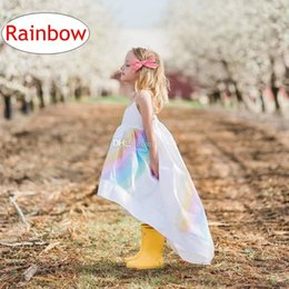 $enCountryForm.capitalKeyWord Canada - Baby Girls Rainbow Dress Kids Summer Cotton Batch Slip Dress Children beach Clothing for 1-5T 5size
