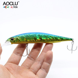 trolling lures Australia - AOCLU jerkbait lures wobblers 13.5cm 18.5g Hard Bait Minnow Crank fishing lure With Magnet Bass Fresh VMC hooks 8 colors lures Y18100906