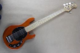 $enCountryForm.capitalKeyWord Canada - Free shipping Factory music man StingRay5 music man 5 strings Orange Electric Bass guitar ernie ball