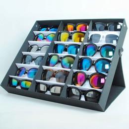 Box Jewelry Storage Organizer Black Australia - Black 18 Checks Sunglasses Box Eyewear Organizer Display Case Collector Eyeglass Box Sunglasses Storage Holder