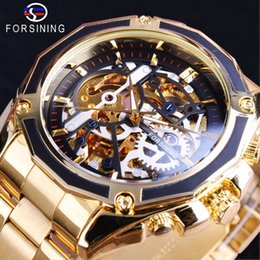 $enCountryForm.capitalKeyWord NZ - Forsining 2017 New Collection Transparent Case Golden Stainless Steel Skeleton Luxury Design Men Watch Top Brand Automatic Watch Y1892111