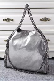 Falabella Chain Bag Canada - free shipping dhl high quality Silver Falabella Shaggy Deer fold over 3 Chain Women shoulder Bags Size 36x32x10cm