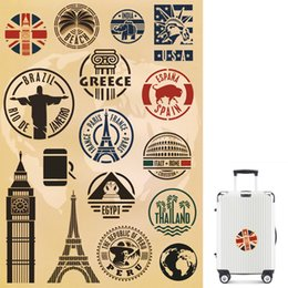 $enCountryForm.capitalKeyWord NZ - 1 PCS Travel Around The World Matte Sticker Toy for Kids Graffiti Waterproof Historical Sites Decal Sticker to DIY Suitcase Laptop Skateboar