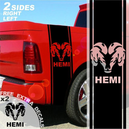 decal side stickers trucks 2019 - For 1500 2500 3500 Truck Bed Side Stripes Hemi Ram Decals Sticker 005B cheap decal side stickers trucks