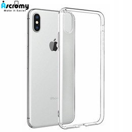 8bdacb6375c wholesale 10PCS Soft TPU Crystal Transparent Silicone Case For iPhone XS  Max XR X 10 8 7 6 6S Plus 5 5s se Protective Cover Coque