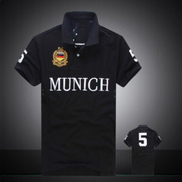 Cheap Organic Canada - High Quality PoloShirt men Short Sleeve T shirt Brand London New York Chicago polo shirt men Dropship Cheap S-XXL