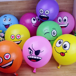 smiley balloons 2019 - 12 Inch Funny Big Eyes Smiley Helium Latex Balloons for Festive Wedding Birthday Children's Day Party Supplies DEC3