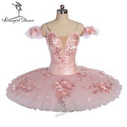 $enCountryForm.capitalKeyWord UK - Child Peach pink YAGP competiton professional ballet tutu girls flower fairy pancake doll performance tutu costume BT9172