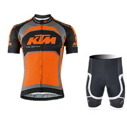2018 KTM Men summer Cycling Short Sleeves jersey bib shorts sets Breathable  Quick dry Bicycle Sportswear clothing accept mix size 1937K 2e8f1a3d0