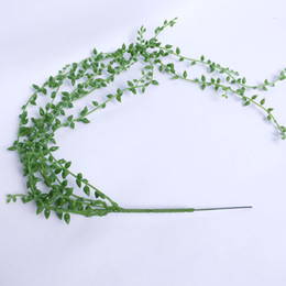 Wholesale Artificial Green Christmas Fake Hanging Vine Plant Leaves Foliage Flower Garland Home Garden Wall Hanging Decoration