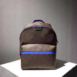 Branded Laptop Backpacks NZ - Hight quality brand Genuine Leather Laptop Backpack Men printing leather Traveling backpack Fashion Backpack Schoolbag For Men 43849