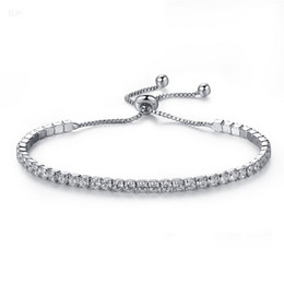 Pandora rhinestone silver charms online shopping - Silver Plated Bracelets No Logo Diamond Crystal Chain Fit pandora Rhinestone Bangle Bracelet Women Female Gift BR002