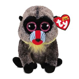 489d6a8f80c Ty Beanie Boos 6 15cm Wasabi the Baboon Plush Regular Soft Big-eyed Stuffed  Animal Collection Doll Toy with