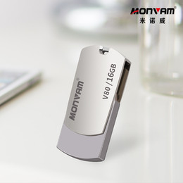 Real flash dRive online shopping - Laser Engraving Your Business Logo Real Capacity Usb Memory Stick Metal Pendrive USB Flash Drive Rotating Usb Memory Stick For Monvam V80