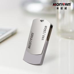 Toptan satış Lazer Gravür Iş Logo Gerçek Kapasite Usb Bellek Sopa Metal Pendrive USB Flash Sürücü Dönen USB Bellek Monvam V80 Için Sopa
