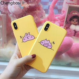 lovely rabbit phone case NZ - Cartoon Cute Pig Phone Case for IPhone X XS XR MAX Lovely Bunny Rabbit Soft Phone Shell for 6 6s 7 8 Plus Protective Cover