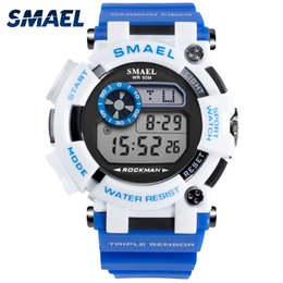 Analog Digital Man Watch NZ - Mens Army Watches  2018 SMAEL Analog Digital Watch Clock Men Sport relogio 1638 LED Digital Wristwatches Water Resistant