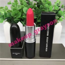 Lipstick Lasts Australia - RETRO Matte Lipstick AB4 RELENTLESSLY RED BARRA DE LABIOS relentlessly red Long Lasting ROUGE À LÈVRES Classic style 1 pcs + sweet smell