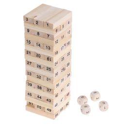 $enCountryForm.capitalKeyWord UK - Wooden Stacked Model Tower Building Blocks Kids Educational Toys intelligent developing Stacked Building Blocks with Dice Hobby