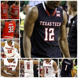 $enCountryForm.capitalKeyWord NZ - NCAA Texas Tech College Basketball 1 Brandone Francis 32 Norense Odiase 25 Davide Moretti Stitched Any Name Number White Red Navy Jerseys