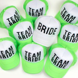 d4928b73 2018 new BRIDE printing baseball cap for wedding party green TEAM BRIDE  snapback hat for women female casual Trucker Hats