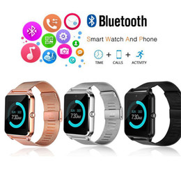 Discount iphone 2g - Z60 Bluetooth Smart Watch Men Smartwatch Android ios Phone Call 2G GSM SIM TF Card Camera Touch clock reloj inteligente