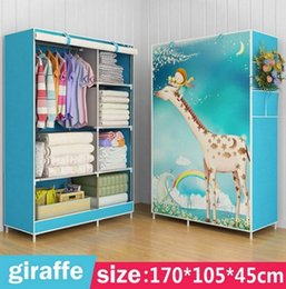 China Wardrobe Non-woven Fabric Steel frame strengthen Standing Storage Organizer 170x105x45cm Portable Clothing Closet furniture C120II-123 suppliers