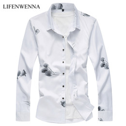 $enCountryForm.capitalKeyWord Canada - New Fashion Men's Flower Shirt 2018 Autumn Floral Printing Long Sleeve Shirts Mens Business Mens Casual Shirts Men Clothes M-7XL