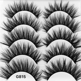 Wholesale 5 Pairs box Thick Dense mink eyelashes natural long makeup false eyelashes d mink lashes cm cm eyelash extension faux lashes